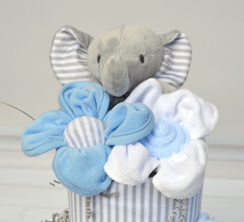 Baby Boy Gifts Elephant : Elephant shower boy cake baby