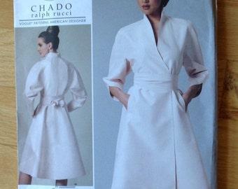 Vogue 1239 Chado Ralph Rucci Dress Size EE