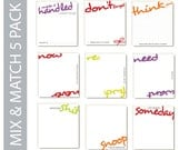 POSTIT in writing - Mix & Match 5 Pack (sticky note pads)
