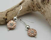 Silver and copper handmade earrings Copper Earrings