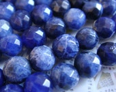 "7. Sodalite 6mm Faceted Round Bead 16"" Inches Strand 66 pcs Stones Beads"