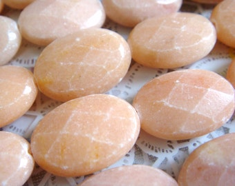 3. Pink Aventurine 13x18mm Faceted Oval Shape 16 Inches Strand 22 pcs Stones Beads