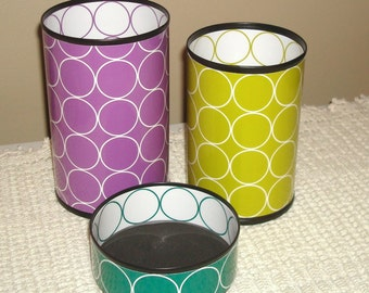 LOTS of COLORS - Fun Desk Accessories - Geometric Circles Pencil Holder - Desk Organizer - Dorm Decor - Dorm Organization - 597