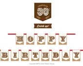 Hoppy 30th Birthday Banner