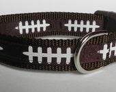 Football Laces Dog Collar