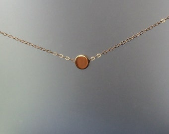 Circle Necklace in Gold or Silver - Simple Necklace - Layering Necklace - Everyday Necklace