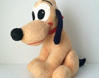1960s Walt Disney Stuffed Animal, Pluto the Dog - Plush Toy, Stuffed Dog, Kids Toy, Vintage Disney Collectible