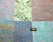 マーブル紙,   Pack 6 scrapbook ,  marmorpapier.  -  cm 25 x 35  -  5410