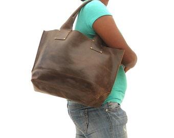 Bags Leather bag lather Tote Bag Women Market bag leather shoulder hobo bag Dark brown leather bag market bag library bag leather laptop bag