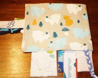 organic cotton cuddle blanket, baby gift