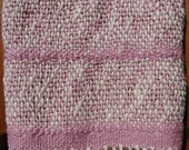 Organic Cotton Handwoven Baby Blanket - Orchid Spice Pink