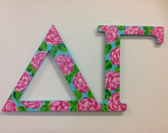 Delta Gamma sorority letters Greek letters