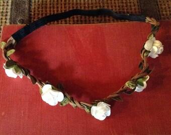 Renaissance Fairs, Bridal, Flower Girl Headband, Bridesmaid, Wedding Headpiece