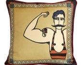 Circus Strongman Cushion/Pillow