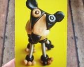 Robot Dog Cow Sculpture Art Postcard