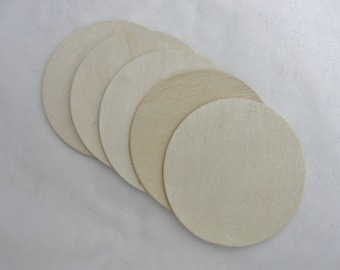 """Wooden 3 inch Circles, wooden disc, wood disk 3"""" x 1/8"""" thick unfinished DIY"""