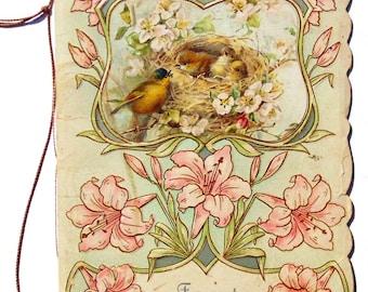 Antique Victorian Card Booklet