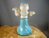 """Vintage Cat """"Pink and Pretty"""" Avon Cologne Bottle"""