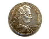 Abe Lincoln US Illinois Commemorative Silver Half Dollar 1918. Scarce and Desirable Coin.