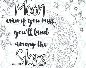 Adult inspirational coloring pages printable set of 16 for Inspirational adult coloring pages