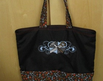 Tool Crest Manly Eco Friendly Tote, Purse, Bag