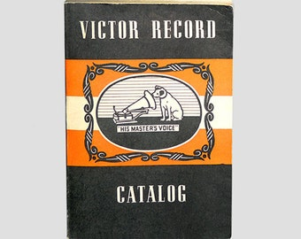 Victor Record Catalog, Victor Records, Victor Catalog, 1940 Record Catalog, Record Catalog, Vintage Records, RCA by NewYorkMarketplace Etsy
