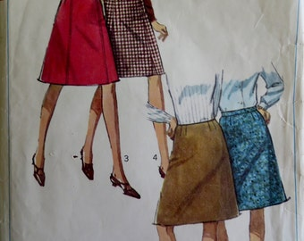 Sewing Pattern Woman Misses Skirt A Line Vintage 1960s