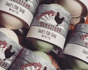 Box of 5 Goat's Milk Soaps, Handmade on the Family Homestead