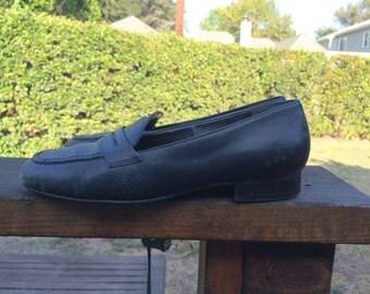 Vintage Black Loafers Size 7 1/2