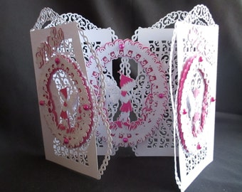 Fairy WAVY Door Card & box Cutting File Template