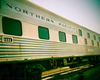 Train Photography - boys room decor, etsy wall art, train print - Northern Pacific - playroom art, train home decor