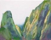 Iao - Iao Valley - Maui - Mist - Clouds - Mountain - Adam Serra - Original painting