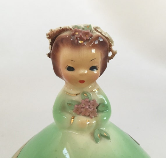 1950s Josef Originals August Birthday Doll Figurine