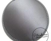 Satin 14cm Round Fascinator Hat Base for Hat Making Millinery - Grey
