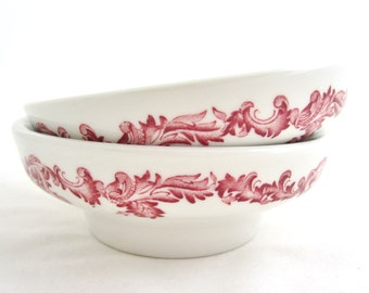 PAUL McCOBB JACKSON CHINA Vintage Restaurant Ware Raised Bottom Soup, Salad, Cereal Bowls Mid Century Style