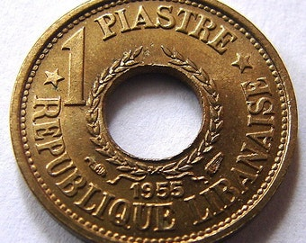 1955 LEBANON 1 PIASTRE COIN 60 Years Old 1 Year Type Coin