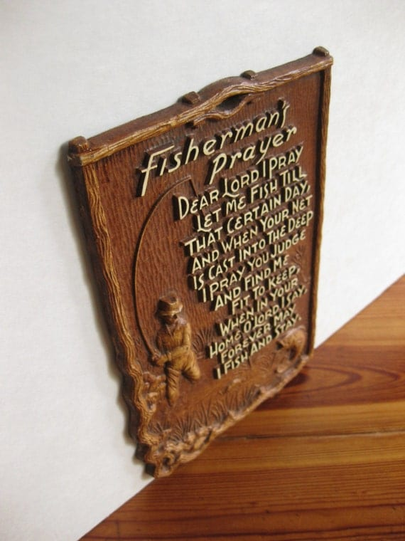 Vintage Fisherman S Prayer Wall Plaque