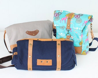 855 Musette Bags Combo (3 Bags) PDF Pattern