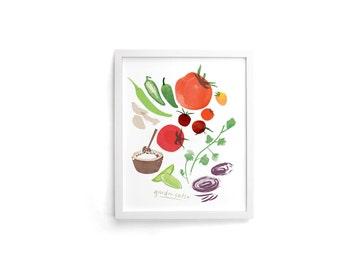 Garden Salsa 8 x 10 Single Art Print
