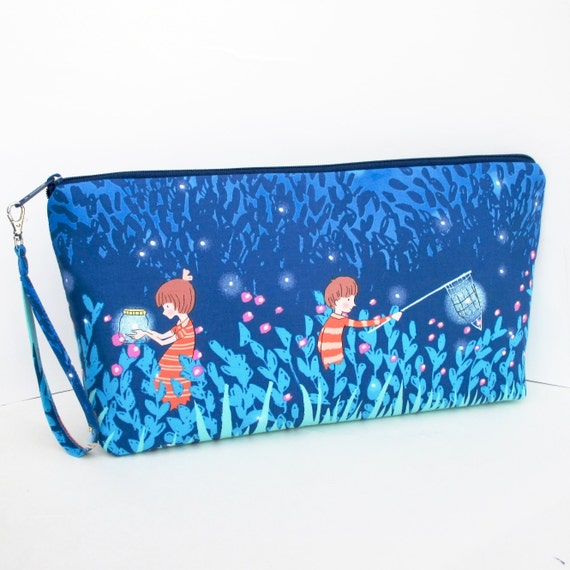 Zippered Knitting Bag : Large zippered knitting project bag summer night by oceanpatch