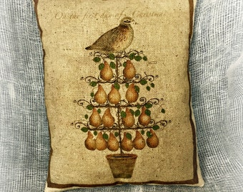 Partridge in a Pear Tree | 12 Days of Christmas | Christmas pillow | Christmas Gift | Christmas decor