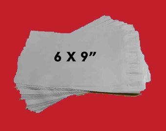 "25 Poly Mailers 6x9"" Non-Fragile Use Only. 25 White Mailing Envelopes Polyethylene. 5219"