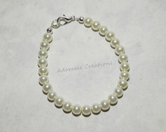 Ladies Adult Classic Pearl Bracelet With Wire - U PICK Color