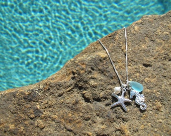 Starfish Necklace - Starfish Necklaces -  Beach Wedding Jewelry - Starfish Jewelry - Bridesmaid Jewelry Necklace - Beach Weddings Jewelry