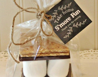 S'mores Favor Tags, Black Chalkboard Style S'mores Favor Tags, Rustic Wedding Favors, Fall Favors, Baby Shower Favor S'mores, Gift Tags
