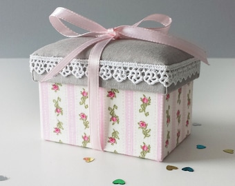 Cottage Chic Fabric Covered Gift Box