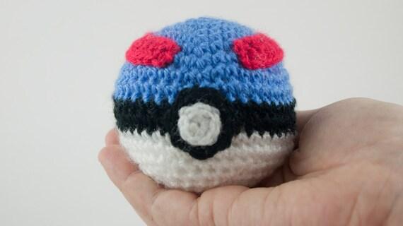 Amigurumi Pokemon Ball : Pokeball grand Ball Pokemon crochet amigurumi