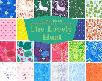 The Lovely Hunt Fat Quarter Bundle by Lizzy House - Full Collection 22 FQs Andover Fabrics
