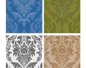 Damask Tiles Vectors-Digital Immediate Download-ClipArt-Art Clip-Digital-Background