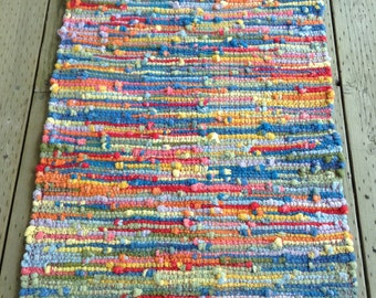 Rag Rug, Hand Dyed, Sock Looper